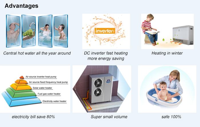 NULITE-Best 11kw Monoblock DC Inverter Heating Cooling Hot Water Heat Pump-7